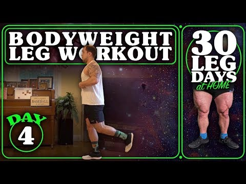 Bodyweight Leg Workout At Home | 30 Days of Leg Day At Home Without Equipment Day 4