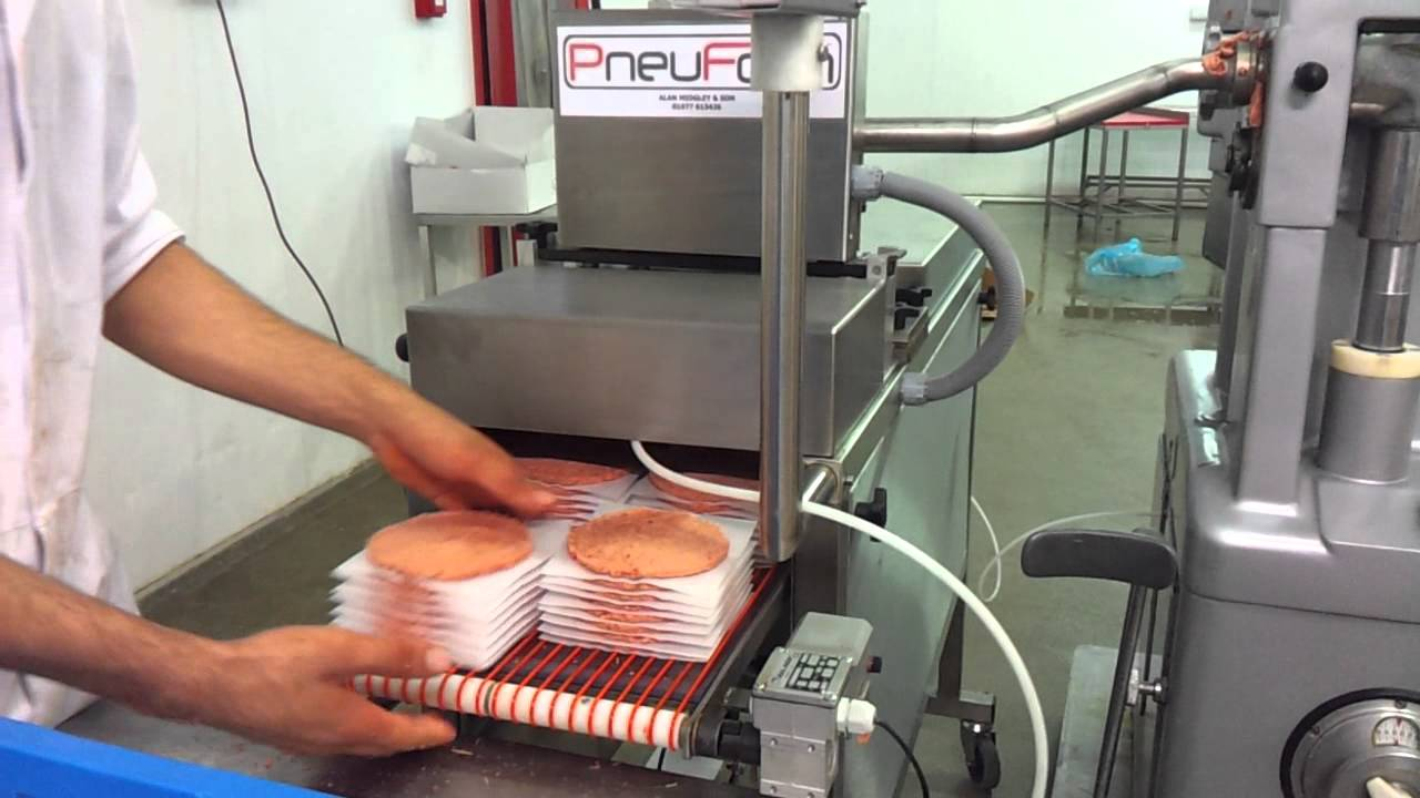 Pneuform Burger Forming Machine Stacking Burgers Youtube