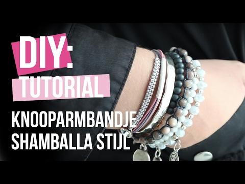 Sieraden maken: Knooparmbandje Shamballa stijl ♡ DIY