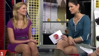 Michaela Šmídová and Iveta Kořínková Beautiful Czech Tv Presenters 03.01.2013