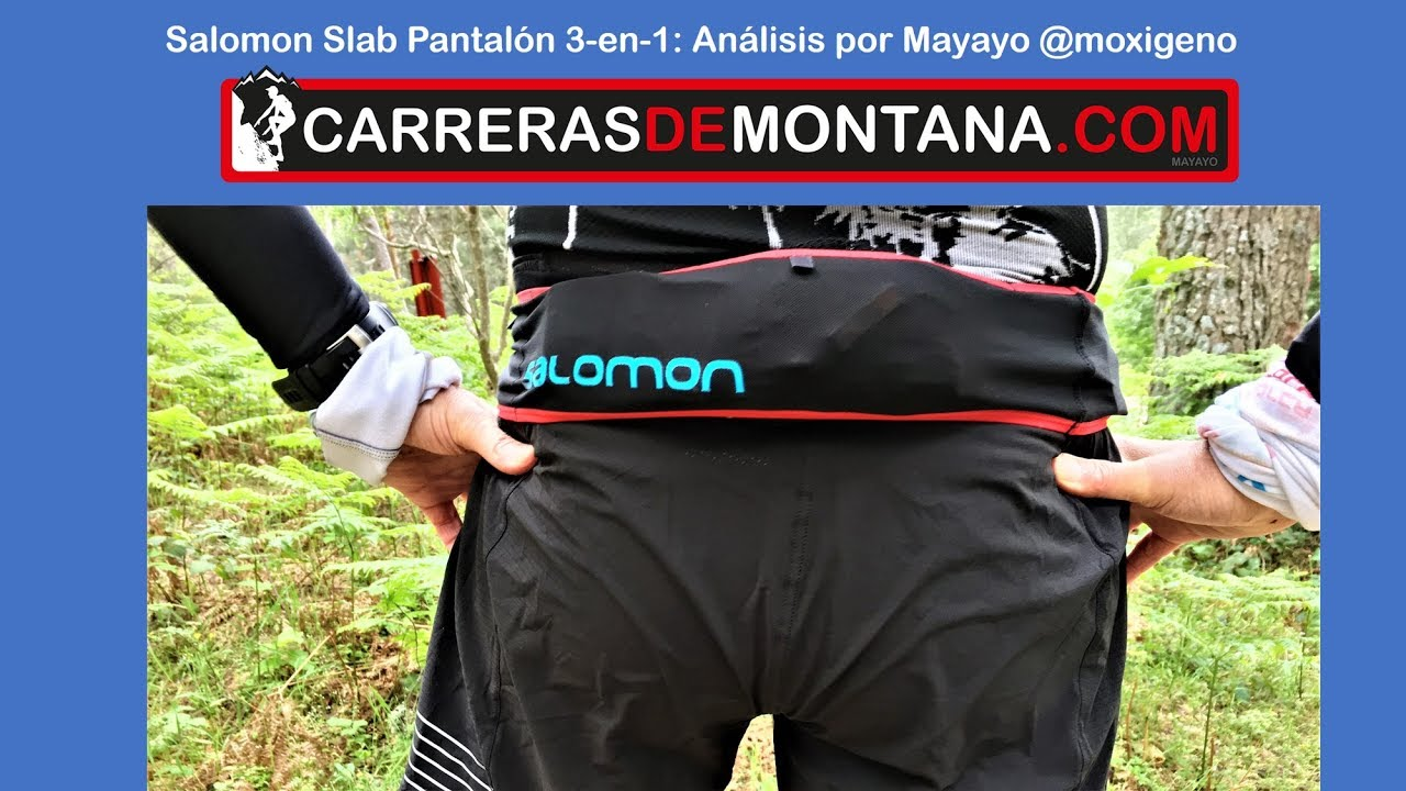 836f1bea5c5 Salomon Slab pantalón trail running 3 en 1 Análisis Mayayo - YouTube