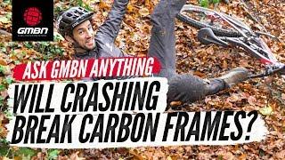 Will Crashing Break A Carbon MTB Frame? | Ask GMBN Anything About Mountain Biking
