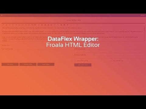 Froala HTML Editor - DataFlex Wrapper