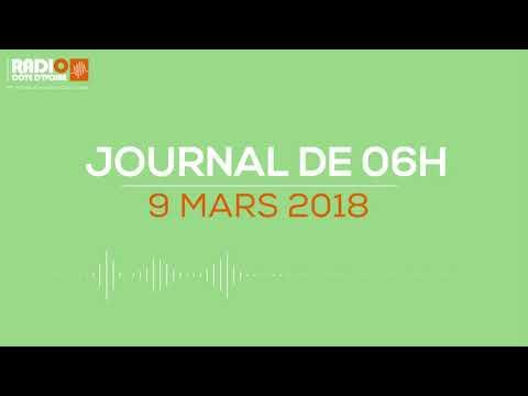 Le journal de 06h00 du 9 mars 2018 - Radio Côte d'Ivoire