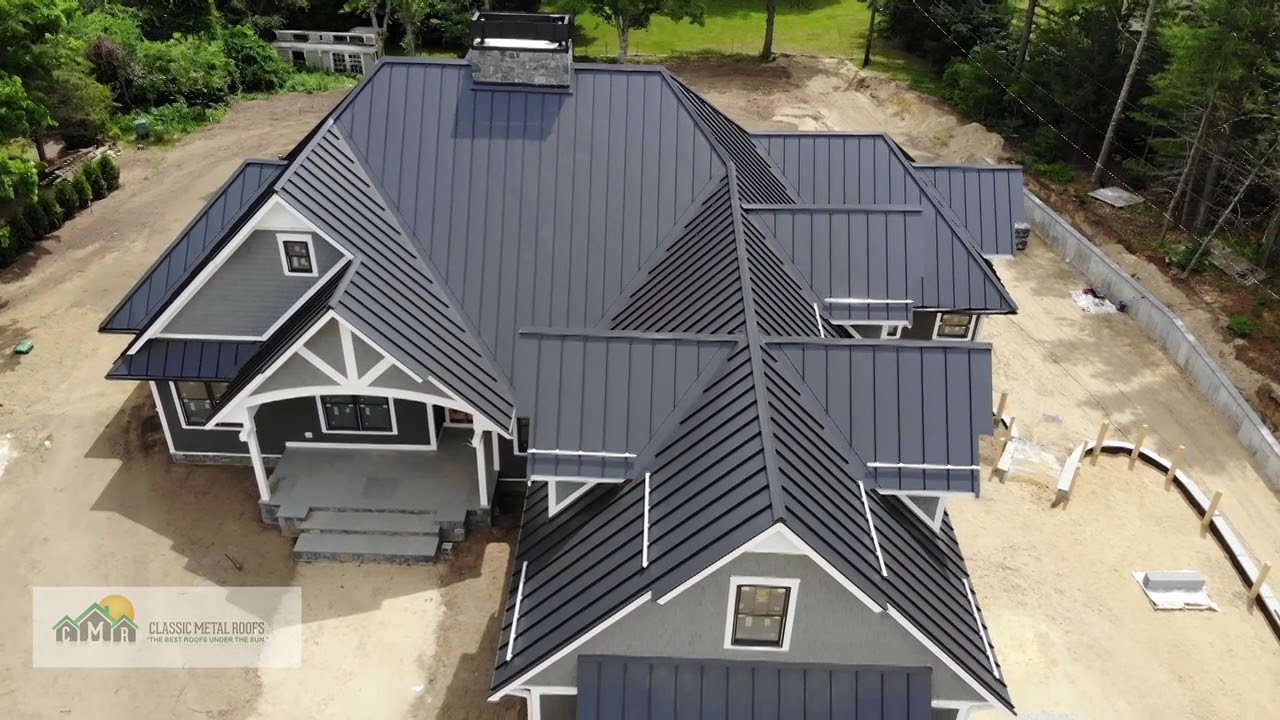 Carver Massachusetts Standing Seam Metal Roof Youtube