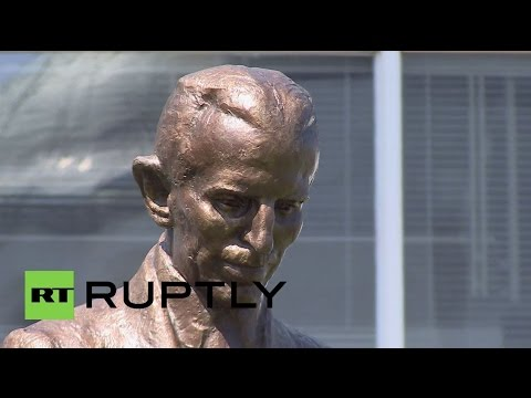 Serbia: Monument to Nikola Tesla unveiled in Belgrade on scientist's 160th birthday