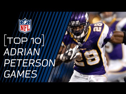 Top 10 Adrian Peterson Games of All Time | NFL
