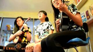 你不知道的事(王力宏) Trio Ukulele Cover - Carmen, Janeen & Ivy