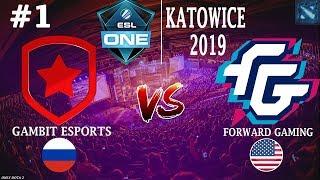 ГАМБИТ на ЕСЛ! | Gambit vs FWD #1 (BO2) | ESL One Katowice 2019