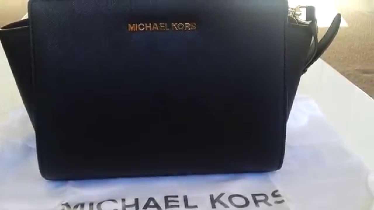 e8433bcd96 Michael Kors Medium Selma Messenger Overview - YouTube