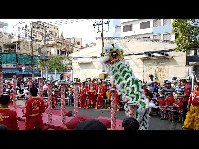 [Múa Lân S? R?ng] Tinh Anh ???ng Mai Hoa Thung P1 T?t 2017 Mùng 2 | Long Shi | Lion Dragon Dance