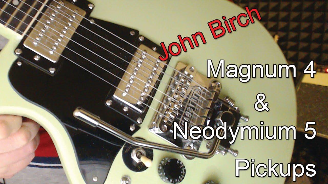 John Birch Magnum 4 Hyperfux 5 Pickups Les Paul Roller Nut Mosrite Guitar Wiring Diagram Tune O Matic Intonation Fix