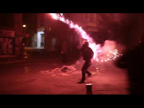 Athens Warzone ~ Front line view of the intense protest and riot for the November 17 student revolt