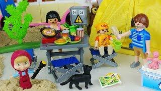 PlayMobil Camping and Masha and Bear picnic toys car play 마샤와 곰 플레이모빌 캠핑 피크닉 자동차 장난감놀이 - 토이몽