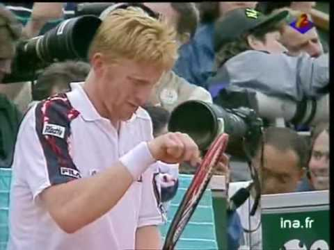 Andre Agassi vs Boris Becker 1991 RG End of 3rd Set