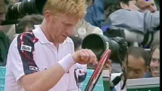 Andre Agassi vs Boris Becker 1991 RG End of 3rd Set