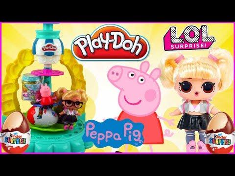 LOL Surprise Hair Goals ✨ Świnka Peppa 🍪 Nagroda za pyszne ciasteczka Play Doh 🌈 DIY