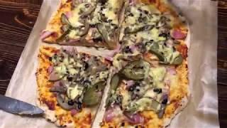 ПИЦЦА МАРГАРИТА тонкое тесто, классический рецепт из того что есть дома, почти как в пиццерии.