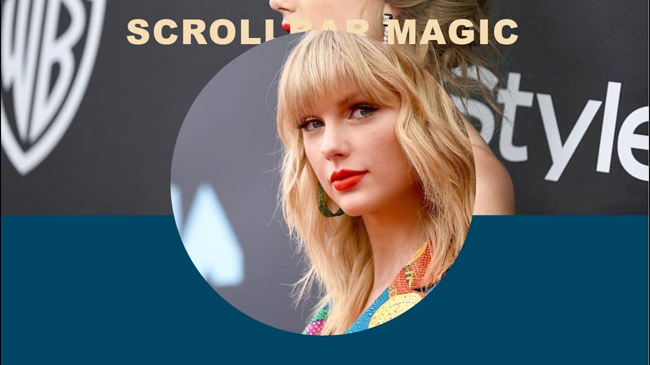 Taylor Swift Image Clip Path Effects On Scrollbar Magic