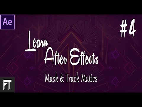 Learn After Effects - After Effects Tutorial - Mask and Track Mattes