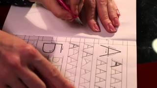 Логопед. Учимся писать печатные буквы.