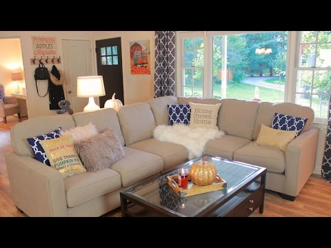 Decorating My Living Room For Fall - Fall Living Room Tour