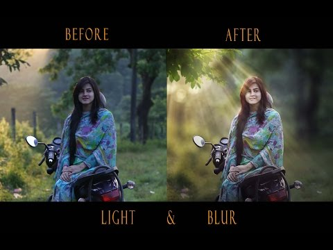 Create blur and light beam in Photoshop