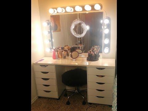 DIY FULL Makeup Vanity with Mirror & Lights (Under $200) | Savannahxo28 2017