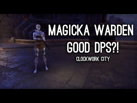 Magicka Warden good DPS?! Target Dummy DPS Tests - Clockwork City