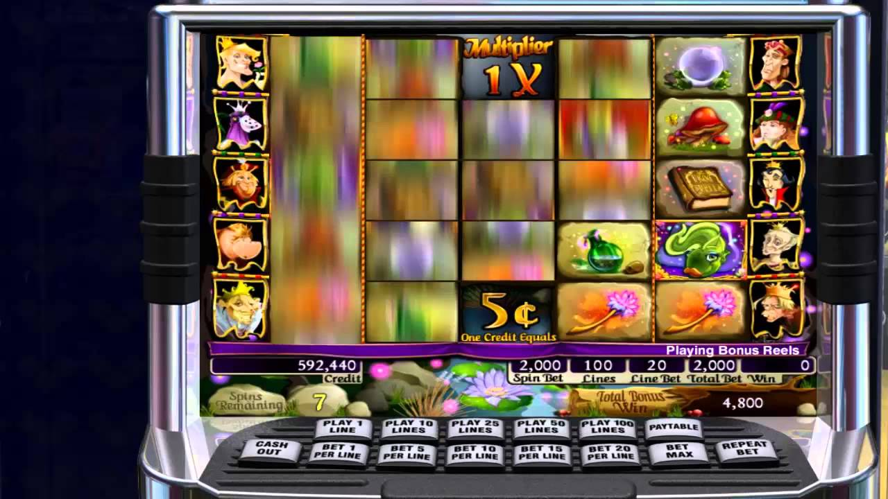 Frog Princess -  Princess Gone Wild Free Feature - Great Free Spins - Another great Pokie Machine