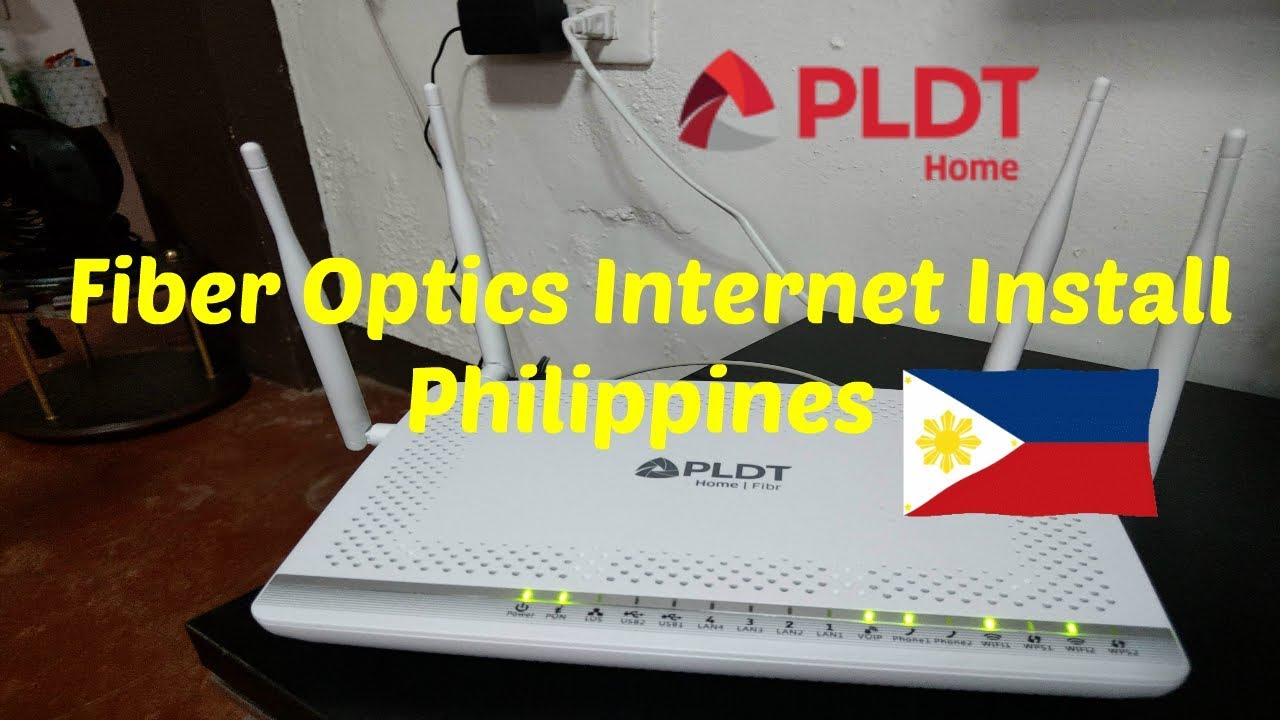 Getting Pldt Fiber Optics Internet In The Philippines Youtube