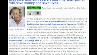 Dr. Arjun Makhijani on the downsides of the proposed thorium reactors (by Dr. Helen Caldicott)