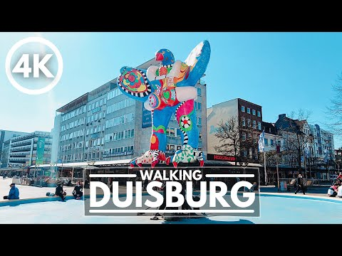 Germany 4K Walking Tour - Duisburg: City famous for its Steel Industry