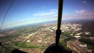 City Airport Manchester in a Microlight