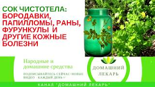 Сок чистотела для лечения - Домашний лекарь - выпуск №89