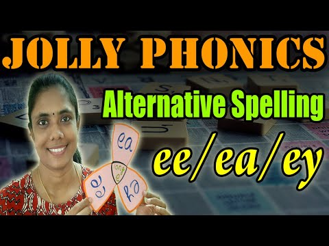 Jolly Phonics Alternative Spelling|ee/ea/ey sounds|Phonics Activity for kids|Katral Elithu