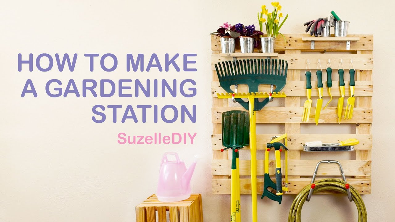How To Make A Gardening Station   YouTube