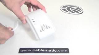Detector inalámbrico de gas natural, LPG y CO distribuido por CABLEMATIC ®