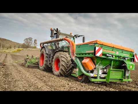 Spring Drilling - Fendt 724 & Amazone 4M Drill