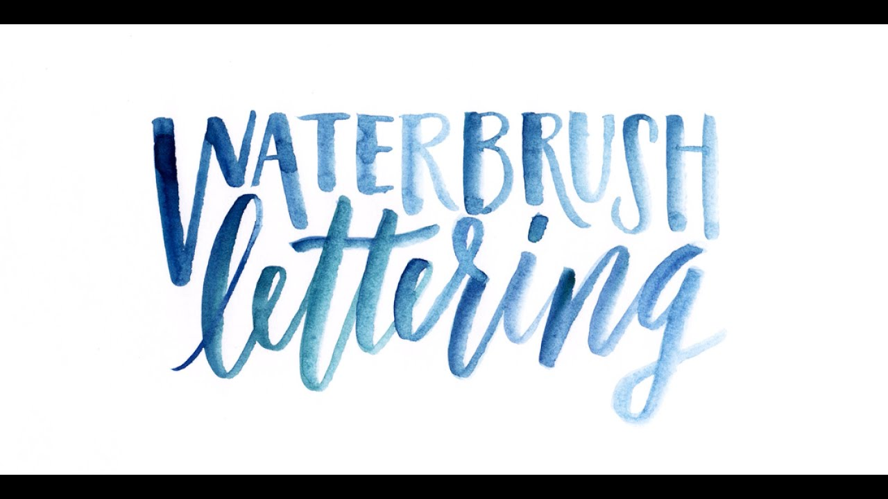 Color Sign Writing Lettering Styles
