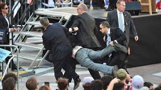 Activists Rush Bernie Sanders, Secret Service Rushes Activists...