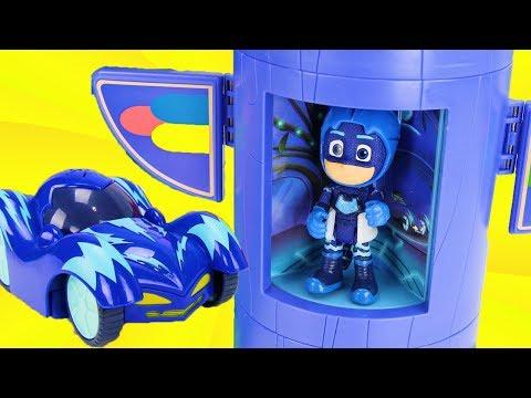 PJ Masks बच्चों के लिए रेस कार खिलौना वीडियो!