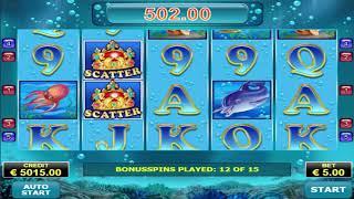 €700 Win On Blue Dolphin Slot Machine - 30 Bonus Spin!!