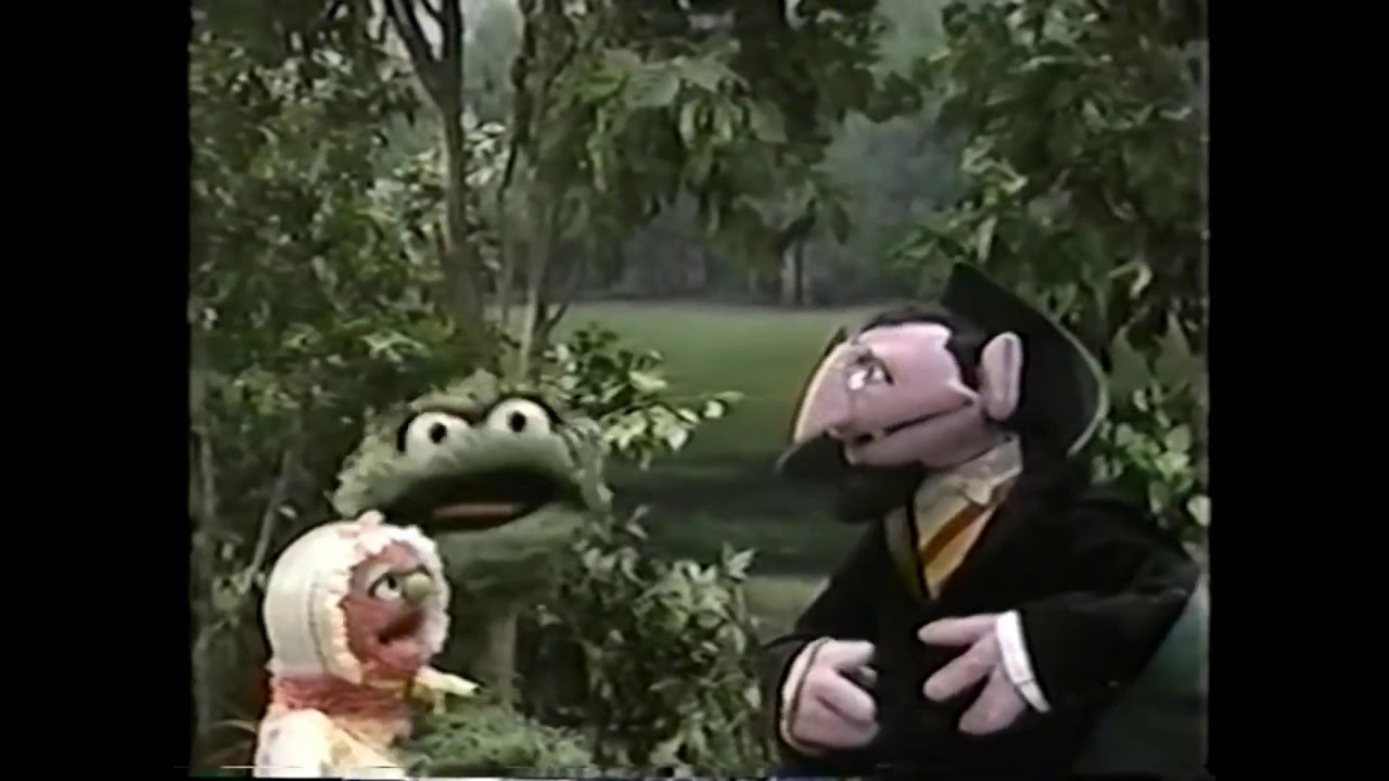 Oscar The Grouch And Baby Natasha Count With Count Von Count