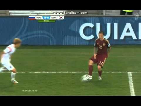 ЧМ 2014 Россия - Юж.Корея. Курьёзный гол в ворота Акинфеева