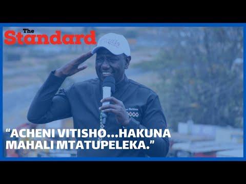 """Acheni vitisho…hakuna mahali mtatupeleka ""Dp Ruto tells off 'the Deep state'"