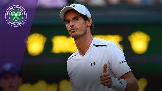 Wimbledon 2017 - Andy Murray saves five set points against Fognini