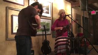 Katie Garringer Martins and Mike O'Malley at Elm Street Brewing Company in Muncie, Indiana