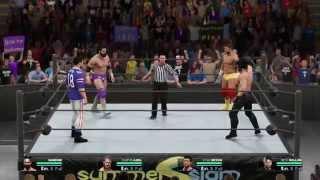 WWE 2K15 (PS4): Goldash vs. KAMYKAZENN | 4-Way Extreme Rules Match | Raw Gameplay (HD)