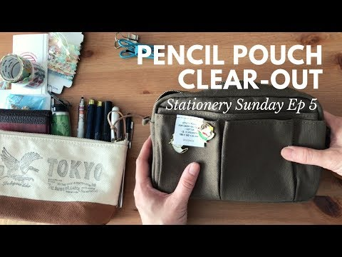 Pencil Pouch Clear-out | Stationery Sunday Ep #5